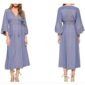 Free People Modern Kimono Dress, Blue, 12 lmtd qty